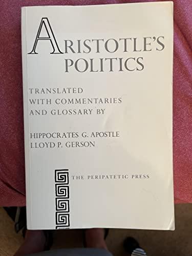 Aristotle's Politics: Aristotle; H. G.