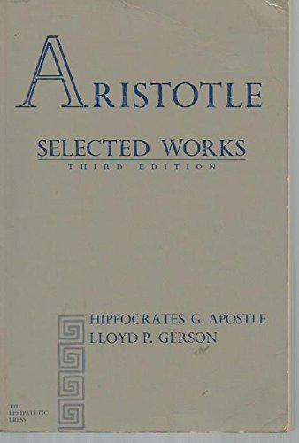 9780911589139: Aristotle Selected Works
