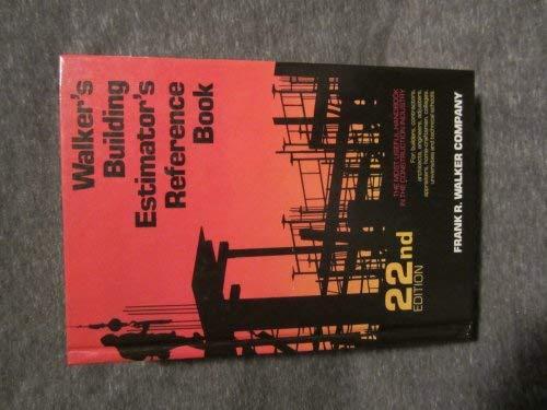 Building Estimators Ref 22/E: Spradlin, William H.,Walker