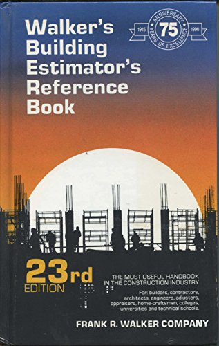 9780911592238: Title: Walkers Building Estimators Reference Book
