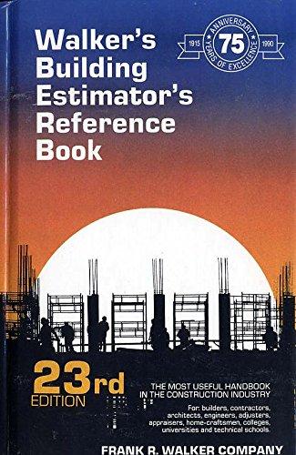 9780911592238: Walker's Building Estimator's Reference Book