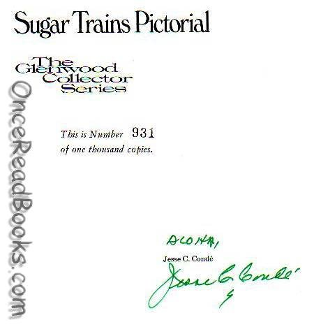 SIGNED* Sugar Trains Pictorial (Limited Edition): Conde, Jesse C.