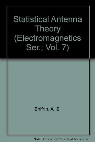 Statistical antenna theory: Shifrin, Yakov Solomonovich