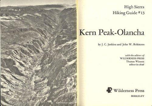 Kern Peak-Olancha: Robinson; Jenkins