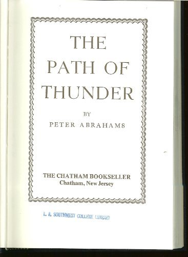 Path of Thunder (0911860436) by Peter Abrahams