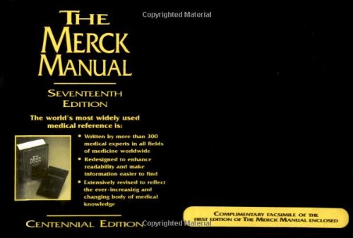9780911910100: The Merck Manual of Diagnosis and Therapy, 17th Edition (Centennial Edition)