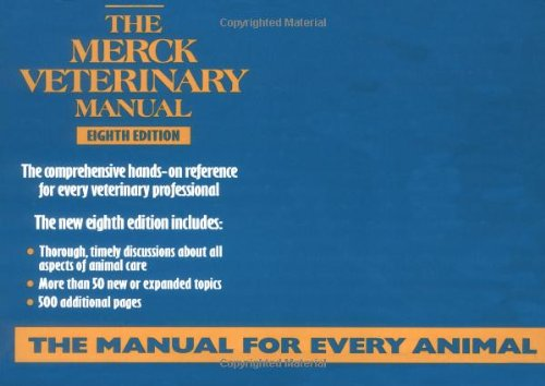 9780911910292: The Merck Veterinary Manual, 8th Edition