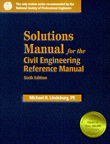 9780912045436: Solutions Manual for the Civil Engineering Reference Manual