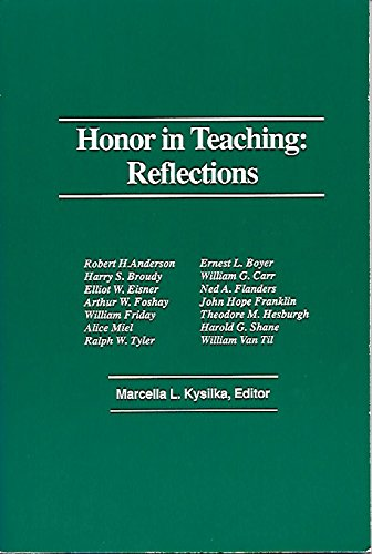 9780912099057: Honor in Teaching: Reflections