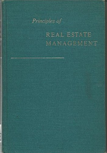 Principles of Real Estate Management: James Chesterfield Downs