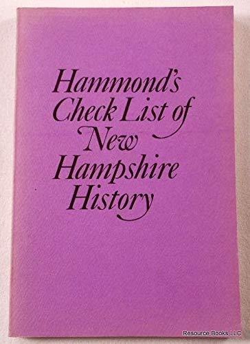 Check list of New Hampshire history: Hammond, Otis Grant