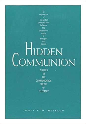 9780912326122: Hidden Communion: Studies in the Communication Theory of Telepathy