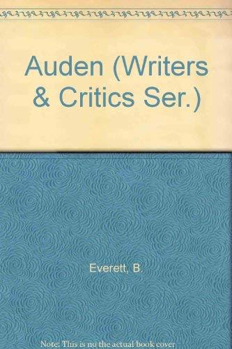 9780912378046: Auden (Writers & Critics Ser.)