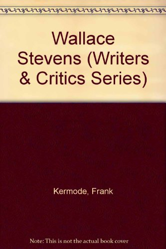 9780912378077: Wallace Stevens (Writers & Critics Series)
