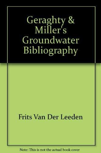 Groundwater Bibliography: Van Der Leeden, Frits