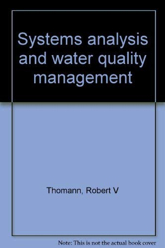 9780912438023: Systems analysis and water quality management