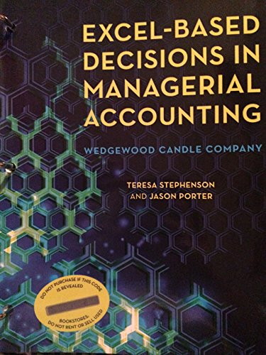 9780912503493: Excel-based Decisions in Managerial Accounting