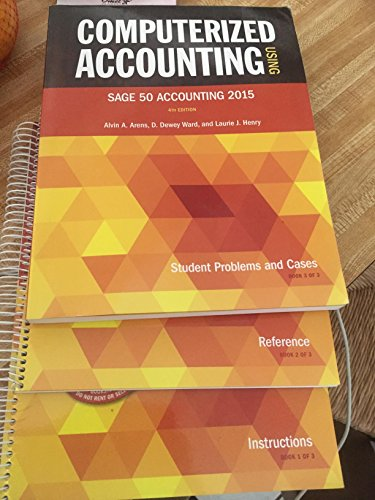 9780912503516: Computerized Accounting Using Sage 50 Accounting
