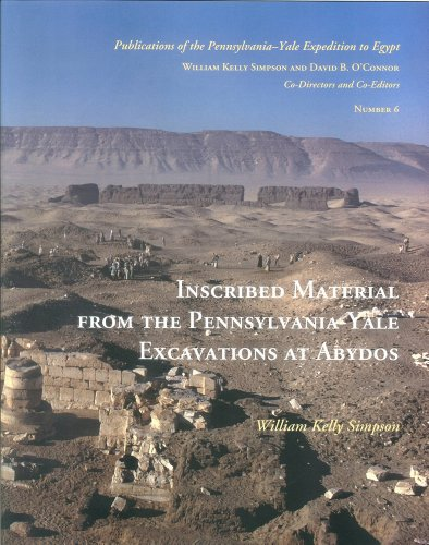 9780912532394: Inscribed Material from the Pennsylvania-Yale Excavations at Abydos (Publications of the Pennsylvania-Yale Expedition to Egypt)