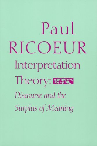 9780912646251: Interpretation Theory: Discourse and the Surplus of Meaning