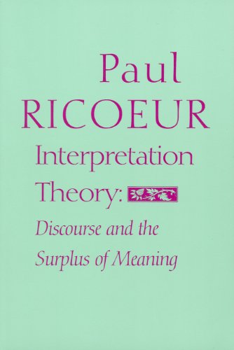 9780912646596: Interpretation Theory: Discourse and the Surplus of Meaning