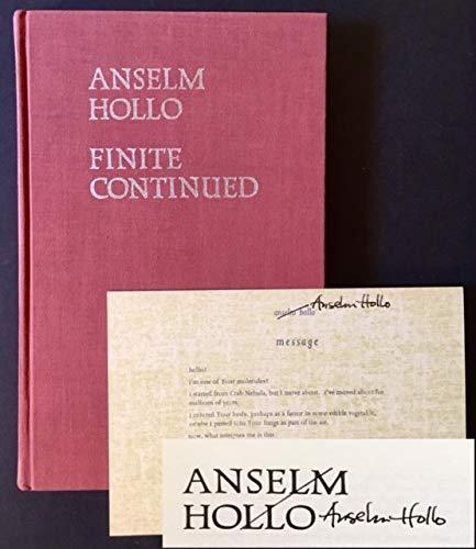 Finite Continued: Hollo, Anselm