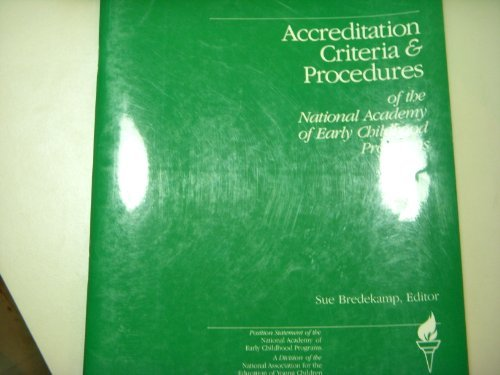 Accreditation Criteria & Procedures: Position Statement of: National Association for