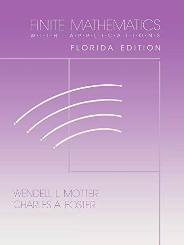9780912675824: Finite Mathematics with Applications (Old English Edition)