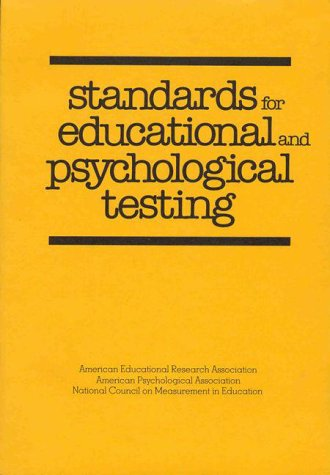 9780912704951: Standards for Educational and Psychological Testing