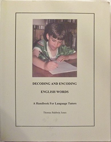9780912752426: Decoding and Encoding English Words: A Handbook for Language Tutors