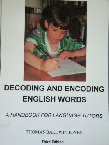 9780912752822: Decoding And Encoding English Words: Handbook for Language Tutors