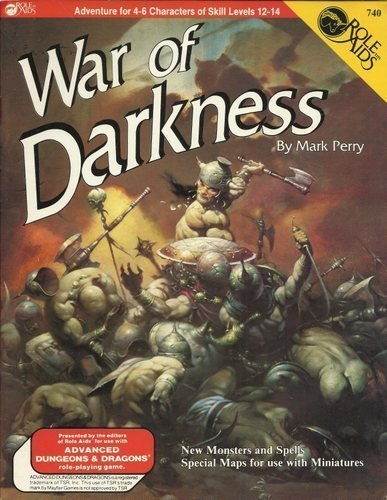 9780912771663: War of Darkness (Role Aids/Advanced Dungeons and Dragons)