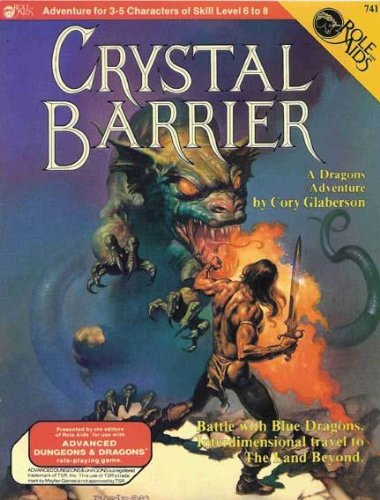 9780912771670: Crystal Barrier (Role Aids Advanced Dungeons and Dragons Supplement, Stock # 741)