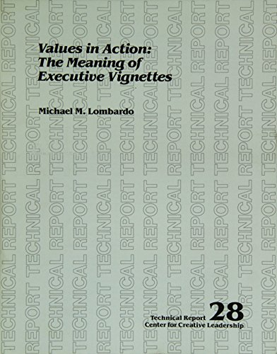 9780912879260: Value in Action Meaning of Executive Vignettes (Technical report / Center for Creative Leadership)