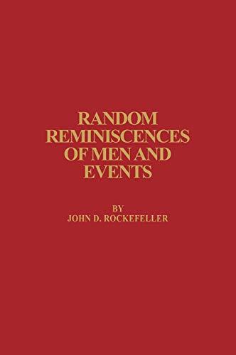 9780912882581: Random Reminiscences of Men and Events