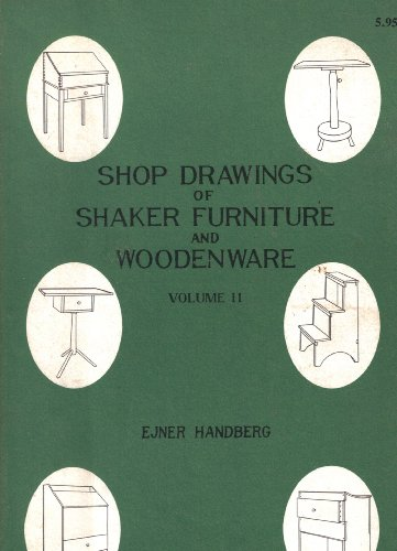9780912944296: Shop Drawings of Shaker Furniture and Woodenware, Vol. II