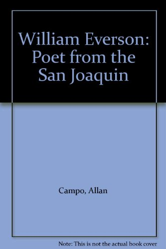 9780912950433: William Everson: Poet from the San Joaquin