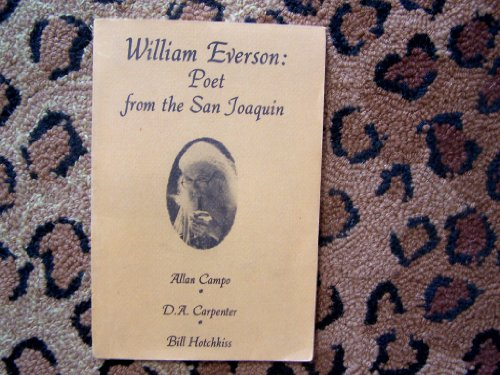 9780912950440: William Everson: Poet from the San Joaquin
