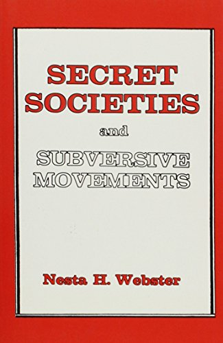9780913022054: Secret Societies and Subversive Movements