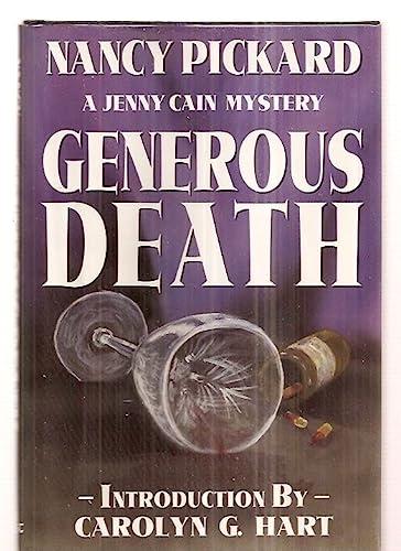 9780913165676: Generous Death (Jenny Cain Mysteries, No. 1)