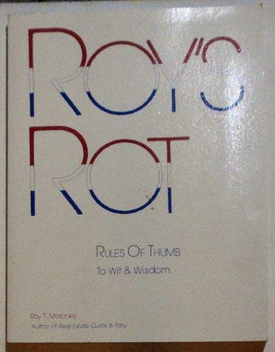 9780913257012: Roy's rot: Rules of thumb to wit & wisdom