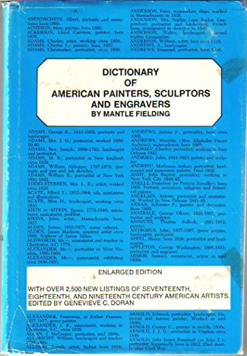 9780913274033: Dictionary of American Painters, Sculptors and Engravers