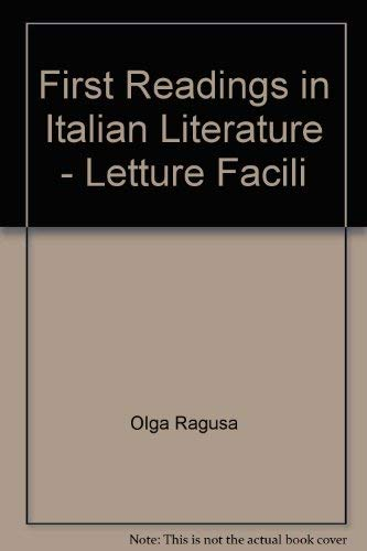First Readings in Italian Literature - Letture Facili: Ragusa, Olga