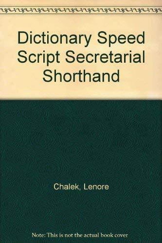9780913310274: Dictionary Speed Script Secretarial Shorthand