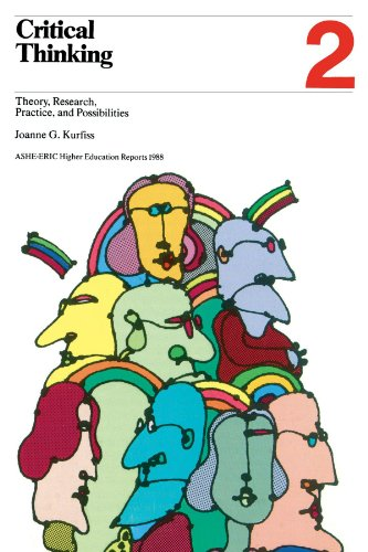 9780913317440: Critical Thinking: Theory, Research, Practice, and Possibilities: ASHE-ERIC/Higher Education Research Report, Volume 17, Number 2, 1988 (2nd Printing)