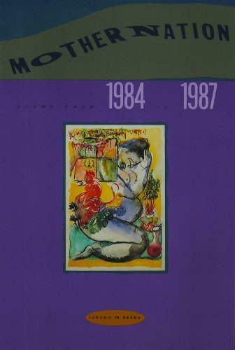 9780913441138: Mothernation - Poems from 1984 to 1987