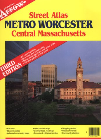9780913450970: Metro Worcester Central Massachusetts (Official Arrow Street Atlas)