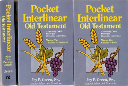 9780913573518: Pocket Interlinear Old Testament: Hebrew-English (3 volume set)