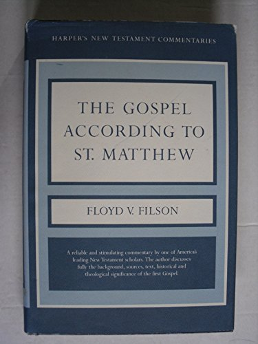9780913573525: A commentary on the Gospel according to St. Matthew (Harper's New Testament commentaries)