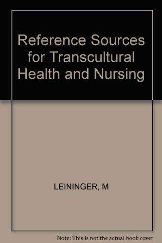9780913590935: Reference Sources for Transcultural Health and Nursing